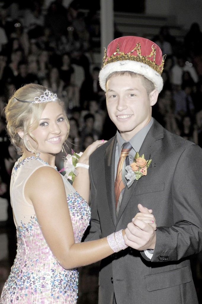 Photo by The Tintype, Arthur, IL Mary Kate Singer and Curtis Plank were selected as Arthur/Lovington's homecoming queen and king during the coronation Saturday, September 28.