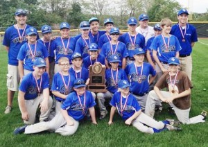 Submitted Pictured is the OVMS baseball team with their third place trophy at the IESA State Tournament Saturday in East Peoria.