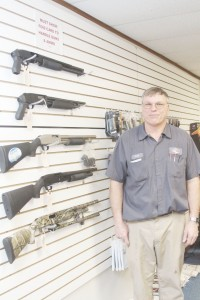 Photo by Keith Stewart Ralph Zancha of Lovington has officially opened his new firearms store, Zancha's Guns and Ammo, which also sells top of the line metal detectors and knives.