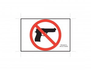 Provided by the Illinois State Police Above is a smaller version of the official signage prohibiting concealed carry firearms into private businesses and other locations.