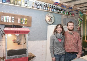 Photo by Keith Stewart Erin and Shane Weybright are the owners of the Hired Hand Winery & Saloon in downtown Bethany, which officially opened last November.