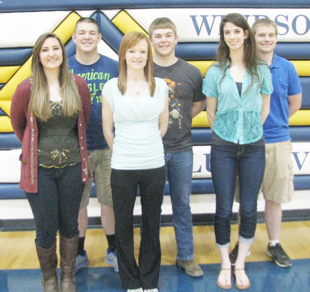 Submitted WHS Prom Court Windsor High School will host their Jr./Sr. Prom May 3 at Spruce Street Studios in Shelbyville. Coronation will be at 7:30 p.m. The 2014 prom court candidates are (front from left to right): Olivia Williamson, Jessica Dodd, and Katie Hostetter. Back row: Hayden Cole, Kyle Peadro, and Spencer Blackburn.