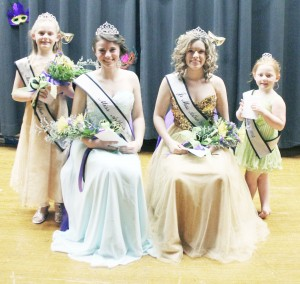 Photo Provided by Tiffan Photography Miss Arthur Pageant Pictured is the Miss Arthur winners from Saturday's pageant. From left to right: Miss Pre-Teen Arthur Deanna Clark, Miss Arthur Emily Powell, Jr. Miss Arthur Kayla Hodge, and Little Miss Arthur Alana Perez.