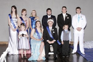 Submitted WHS Prom Court Windsor High School hosted prom on May 3 at Spruce Street Studios in Shelbyville.  The theme was Cinderella and Prom Royalty were crowned. Back row (left to right):  Queen Candidates Katie Hostetter and Jessica Dodd, 2013 Prom Queen Amanda Tucker, 2013 Prom King Anson Tilford, King Candidates Hayden Cole and Kyle Peadro Front row (left to right):  Crown bearer Gracie Plummer, 2014 Prom Queen Olivia Williamson, 2014 Prom King Spencer Blackburn, and Crown bearer Carter Dilley.