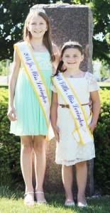 Photo by Darian Hays Pictured are the Lovington Jr. Miss Natalie Lambdin (left) and Little Miss Halle Wardrip (right) who were crowned at the  June 7 pageant.