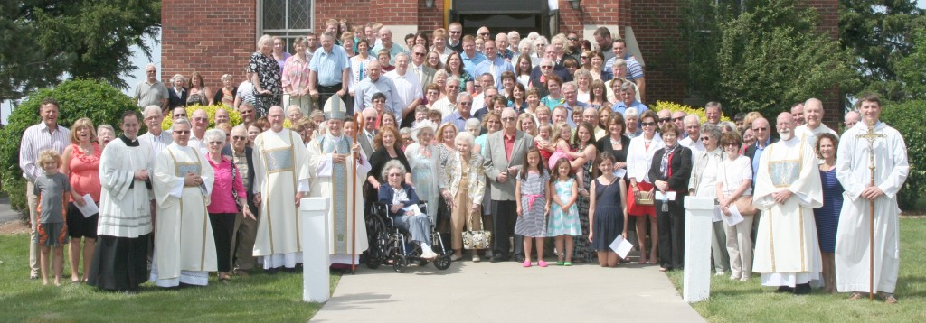 Submitted Pictured is a portion of those who attended the celebratory mass at St. Isidore May 25.