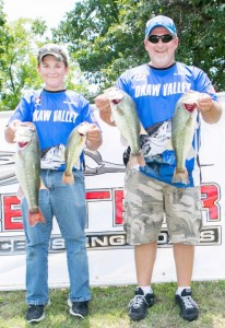 Photo by Kevin Sesko Father-Son duo Dalton (left) and Mike McGill (right) took first place this past weekend at the Illinois-Kaskaskia Fishers of Men Legacy series tournament and also earned point champions for the year.