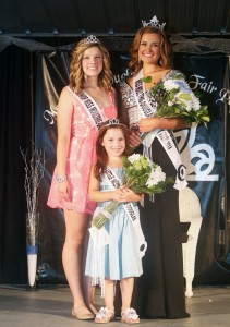 Photo by Keith Stewart Miss Mo-Do Royalty The 2014 Miss Moultrie-Douglas royalty are, from left to right: Jr. Miss Kayla Hodge of Arthur, Little Miss Brynlee Moore of Lovington, and Miss Moultrie-Douglas Maria Meyer of Tuscola.