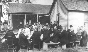 Provided by the Moultrie County Historical Society Pictured is the last gathering of Moultrie County Civil War veterans. The place and date, however, are not known.