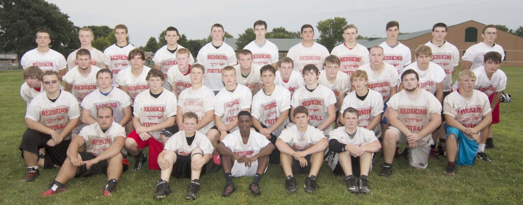 Photo by Keith Stewart Pictured are sophomores, juniors, and seniors from which the 2014 SOV varsity football team will be chosen.