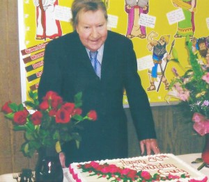 Submitted by Jason Probus Pictured is Guy LIttle, Jr. celebrating his 80th birthday at an open house Friday, February 13.