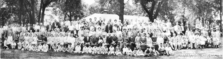 Submitted Pictured is a photo from 1928 in what was then called Freeland's Grove (near present day Wyman Park) of the Waggoner family reunion. The family goes back as far as 1828, making it one of the first to settle in Moultrie County. After more than 80 years after their last, the family plans to reunite in Sullivan next month, but is still trying to get the word out to family members.