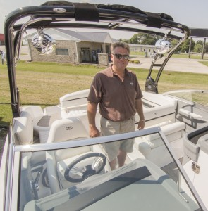 Photo by Keith Stewart Pictured is Jeff Gibbs, the owner of Clinton Marine who recently opened a location in Sullivan just in time for the busy boating season.