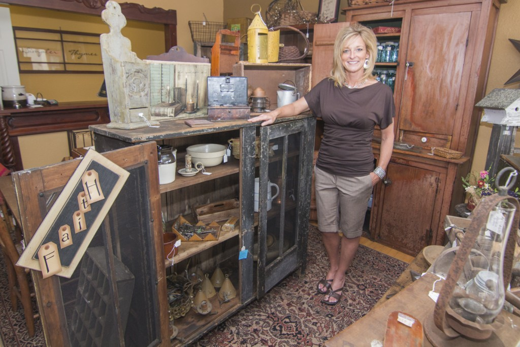 Photo by Keith Stewart Pictured is Brandi Novak, the owner of the newly opened primative/antique store Simpler Thymes, located at 110 E Harrison next door to the Sullivan Bakery.