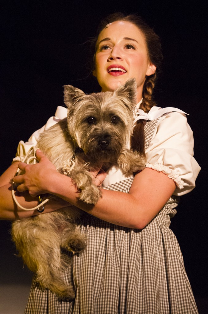 Photo by Keith Stewart Dorothy Gale, played by Daniella Davila, clutches her companion Toto, played by Compo.