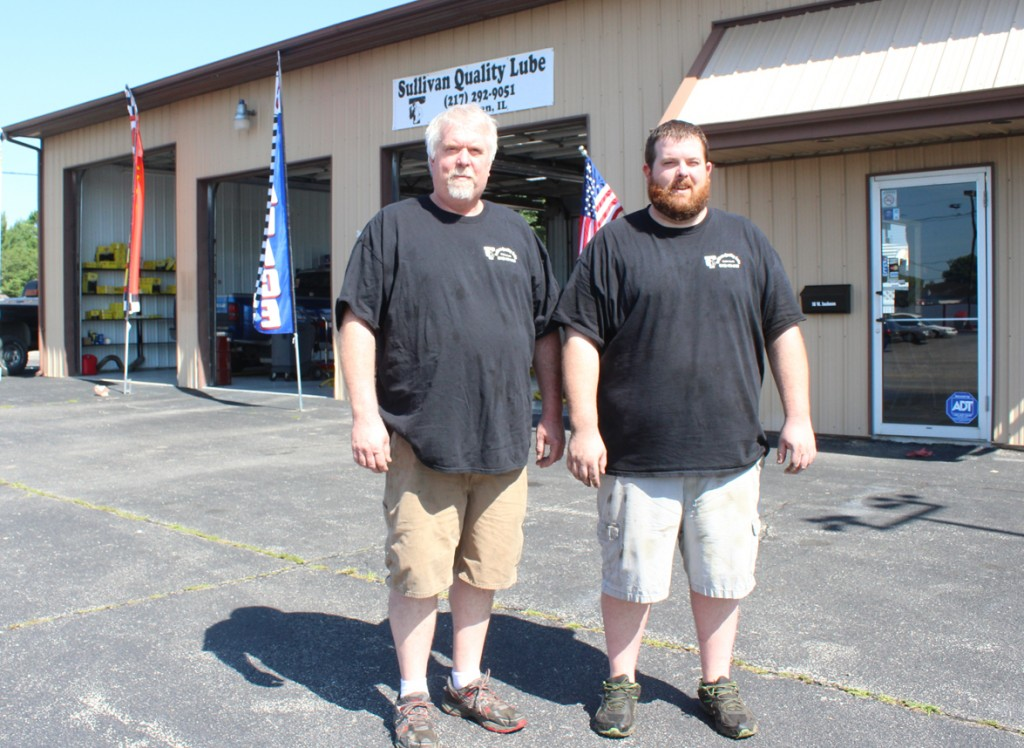Photo by RR Best Pictured are Jeff (left) and David (right) Smith, a father/son duo that recently re-opened the Sullivan Quality Lube.