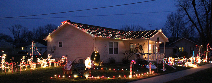 Photo by Mike Brothers News Progress Holiday Decorating Contest winner for Sullivan is the Wilma Wiley home at 420 Lincoln Street.