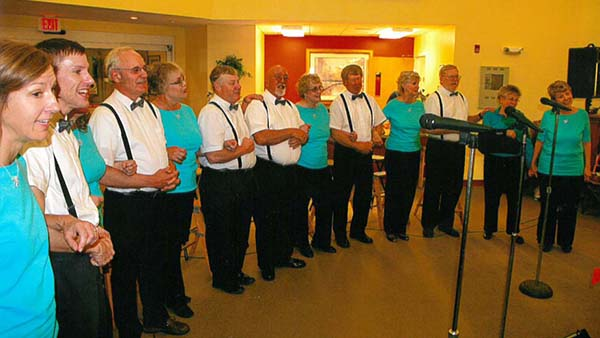 Photo Submitted Prairie Winds performs a special tribute to Virginia Darnell during the 30th anniversary concert held at Courtyard Estates in Sullivan.