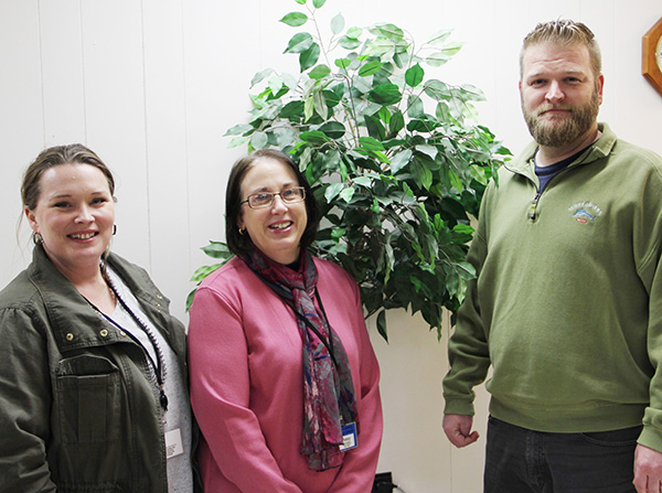 Photo by Kennedy D Nolen Hollie Atchison, Employment Specialist; Penny Arthur, IPS Supervisor; Jeremy Nolen, Employment Specialist, are a part of the IPS program offered through the Moultrie County Counseling Center.