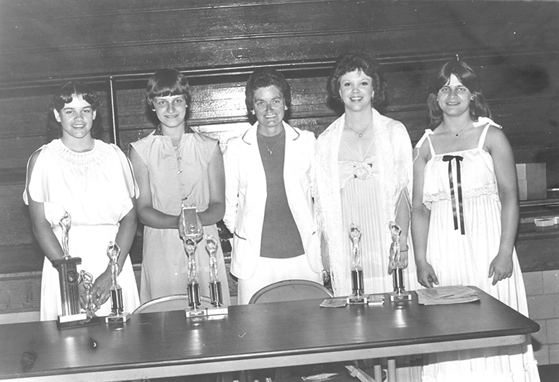 Pictured above is Jo Ann Foster (center). She was the girl's basketball coach in Bethany. The year that this photo was taken is unknown. Please submit photos to the News Progress for future consideration. Originals will be saved for return or forwarded to Moultrie County Historical Society. If you have any other information, please contact the Moultrie County Historical Society at 217-728- 4085.