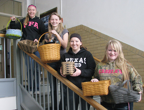 Photo Submitted Longaberger Binga at Windsor The Windsor class of 2017 will host a Longaberger Binga Fundraiser March 19 at Windsor High School. Doors will open at 5 p.m. with the games starting at 6p.m.  Tickets are available from junior class members, by calling Lesley Baker or Shanna House at 459-2636 or at the door.   All of the baskets will be filled with goodies. Refreshments, 50/50, and raffle items will also be for sale. Pictured left to right:  Bailey Fleshner, Jodie Harris, Gillian Sanders and Katie Greuel