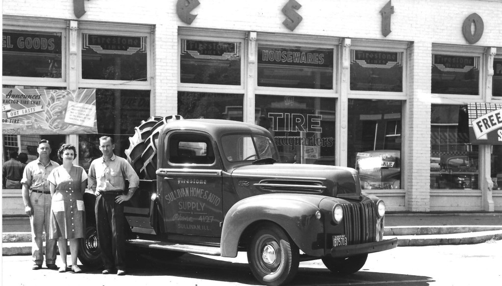 Pictured above is the building located at 117 E. Harrison, Sullivan. Photo was taken in 1947. Names of people are unknown. A few years later is was purchased by the city to serve as their police & fire dept. In 1975, MCHGS purchased the building and transformed it into the Heritage Center that houses the museum, library and offices. The building is over 100 years old.. Please submit photos to the News Progress for future consideration. Originals will be saved for return or forwarded to Moultrie County Historical Society. If you have any other information, please contact the Moultrie County Historical Society at 217-728- 4085.