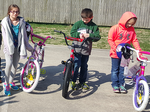 Photo furnished Sparrows Winners Winners of the Sparrows sponsored bike ride in Lovington  were: 1-3 year old boy- Blaine Hill, girl- Dixie Davis; 4-6 year old boy- Owen Crum, girl- Paityn Strauf; 7-9 year old boy- Ross Young, girl- Kaylee McDaniel; 10-12 year old  boy- Mason Kreher, girl- Lanie Wiley.