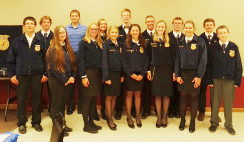 Photos furnished The ALAH FFA members who attended the annual banquet.
