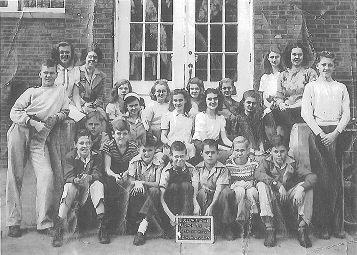 James 0. Beavers of Taylorville submitted this photo of Fern Woodruff's seventh grade class, taken in the fall of 1946. Class members in the photo are (boys from left) Phil Had, Harold King, Leon Cochran, Bosco Steven, Jim Sharp, Billy Blackwell, Kenneth Pedigo, John Robert Ray, Jim Beavers and Robert Shaw. The girls (right to left) are Jodean Isaacs, Carmen Jackson, Bet-ty Hood, Beverly Neal, Peggy Lou Gregory, Ethel May Schuster, Peggy Butler Auten, Judy Moore, Nancy Fleming, Sarah Yates and Betty West. Beavers was born June 1, 1934 in Sullivan at the corner of Market and Jackson Street where the Farm Bureau building is now located. Please submit photos to the News Progress for future consideration. Originals will be saved for return or forwarded to Moultrie County Historical Society. If you have any other information, please contact the Moultrie County Historical Society at 217-728- 4085.