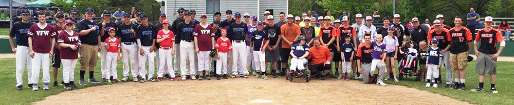 Photo furnished On Saturday, May 7 the Okaw Valley baseball team defeated Paris 6-3. What followed the game was the real victory. The baseball players from the Okaw Valley team stayed after the game to help with the Challenger League. The Challenger League is based out of Paris and gives special needs and disabled children a chance to learn baseball, this time with some extra help from experienced high school players. It was a great experience for the Timberwolves to volunteer, without even knowing this was happening after the game.