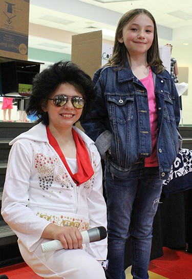 Photo furnished  Elvis (Hannah Righter) and Miranda Cosgrove (Kylie Swaim).