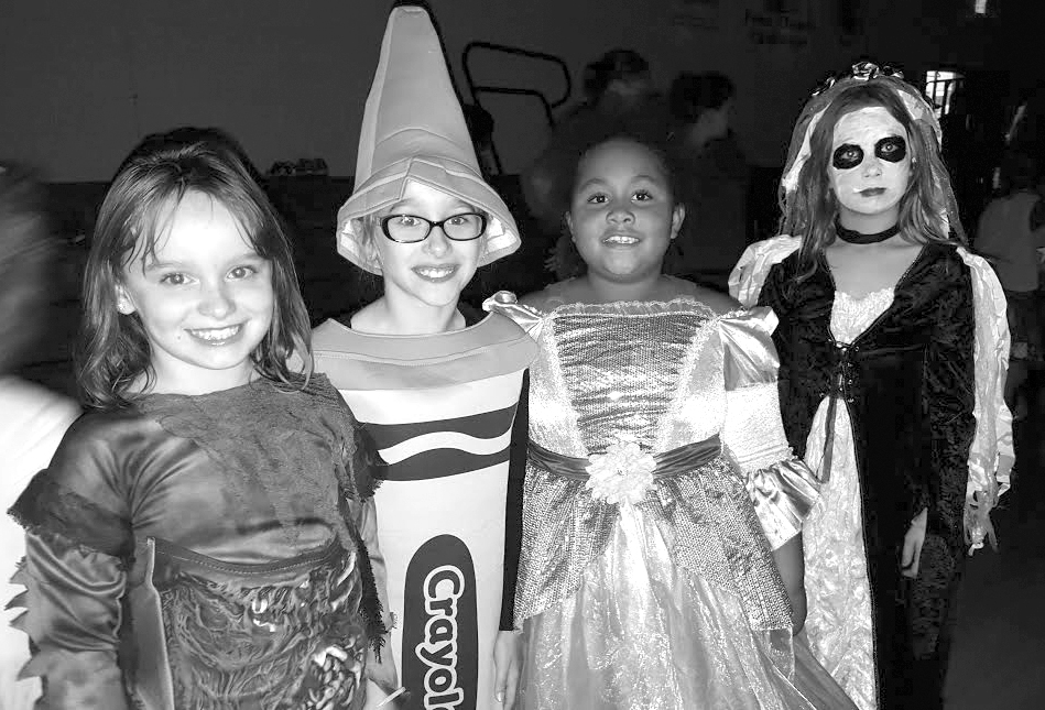 Photo furnished SES Monster Mash The Monster Mash took place October 26 at Sullivan Elementary School. Students pictured from left to right: Zoey Stovall (3rd Grade), Addison Brush (3rd Grade), Jazzlynn Coe (3rd Grade), Ann Camren (4th Grade)