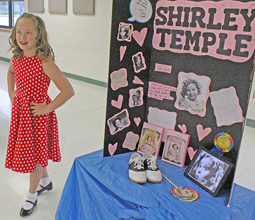 Photo furnished Shirley Temple (Ruby Haegen) tap dances.