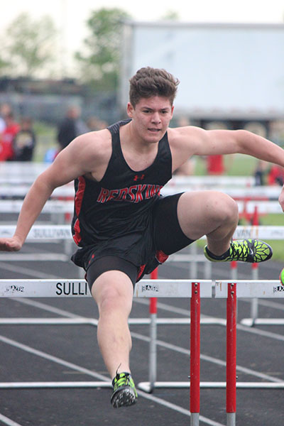Photo by Darian Hays SOV's Ross Metzger takes the hurdles during the Redskins Invitational track meet held May 3.
