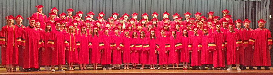 Photo by Darian Hays Pictured above is ALAH's 2016 graduating class.