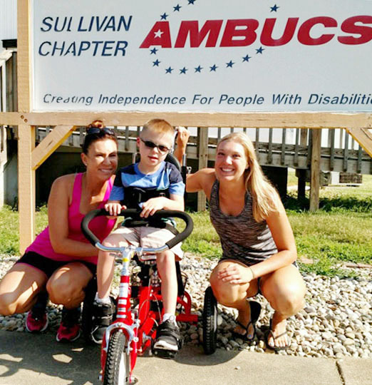 Photo by Denny Hutchings AmBucs Hold Golf Outing Several local golfers enjoyed the annual AmBucs outing at Sullivan Country Club Friday, June 24. Above AmBuc trike winners (from left) Kiley and Hunter Iffert and Katie Niemerg.