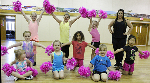 Photo furnished Dance Class: Top row (l to r) Khyli Kelly, Alivia Melvin, Ava Corley, Miss Melissa; miiddle row (l to r); Emily Tilton, Lillian Hood, Adalee Foster; front row Chloe Jensen, Avery Florey, Layla Corley.