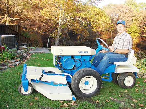 Photo furnished Gary Davis of Herrick will display his George Garden equipment collection at the 70th anniversary open house at Agri-Fab July 2.