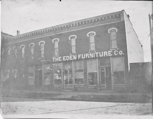 John F. & Alfred Eden owned this store on W. Harrison St. in Sullivan. This photo was taken about 1910. This row of buildings still exist and are directly behind 1st National Bank. Please submit photos to the News Progress for future consideration. Originals will be saved for return or forwarded to Moultrie County Historical Society. If you have any other information, please contact the Moultrie County Historical Society at 217-728- 4085.