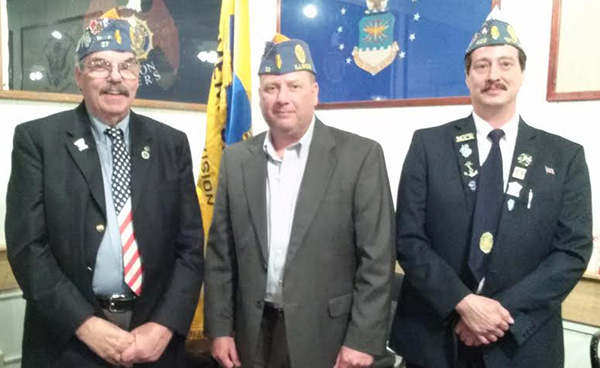 Photo furnished Sons of American Legion District Officers The Sons of the American Legion is an organization of the American Legion and consists of the male descendants of veterans of the US military. They proudly boast of more than 15,000 members in Illinois and more than 350,000 members nationally.The 4th Division of the Detachment of Illinois is comprised of 75 individual squadrons across 22 counties in central Illinois with a combined membership in excess of 3,500 members. The newly elected 4th Division officers for the membership year 2016-2017 are pictured left to right Commander Paul Garrett Squadron 27 of Tuscola, Sr. Vice Commander James Peters Squadron 32 of Springfield and Jr. Vice Commander Dennis Fedie squadron 429 of Lovington.