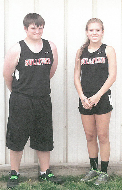 Photo furnished SMS State Track Participants Sullivan Middle School eighth grade students Ian Hill and Madalyne McPheeters participated in the state track and field finals in East Peoria on May 21. Hill competed in the discus throw, recording a 111 foot effort. McPheeters ran the 200 meter dash in 28.6 seconds.