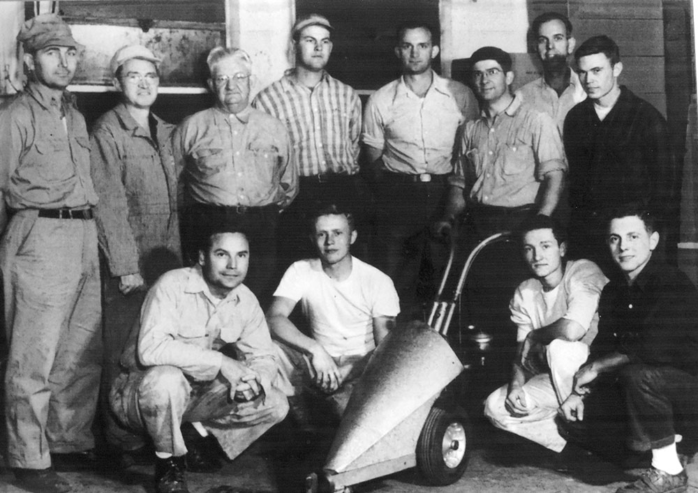 The George Garden Tool Company observed 70 years in history with an exhibition at the original factory site where Agri-Fab in Sullivan now stands. Pictured above are original George Garden Tool employees from 1946. George Garden Tools employed as many as 450 people before closing in the mid 1960s. Originals will be saved for return or forwarded to Moultrie County Historical Society. If you have any other information, please contact the Moultrie County Historical Society at 217-728- 4085.