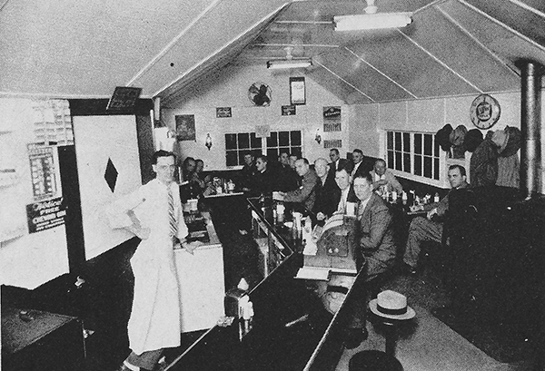 Pictured above is Bruce Thomsen's Restaurant which was located near First National Bank in Sullivan. This photo was taken in the 1950's. Pictured are Roy Picken, Harold Lindley, Corwin Hamilton, Lester Lippincott, Carl Weakley, Jake Marble, Cale Cunningham, Purvis Tabor, Carl Shasteen, Bo Wood and Larry Sheets. Please submit photos to the News Progress for future consideration. Originals will be saved for return or forwarded to Moultrie County Historical Society. If you have any other information, please contact the Moultrie County Historical Society at 217-728- 4085.