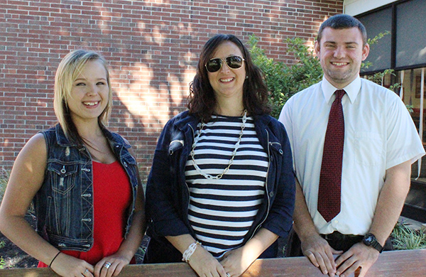 Photo by Mike Brothers Sullivan Chamber and Economic Executive Director Laurrie Minor welcomes Sullivan High School interns Jazmyn Jayne and Parker Whitaker. In the recently expanded SHS intern program Jayne and Whitaker are helping organize the annual Octoberfest celebration.