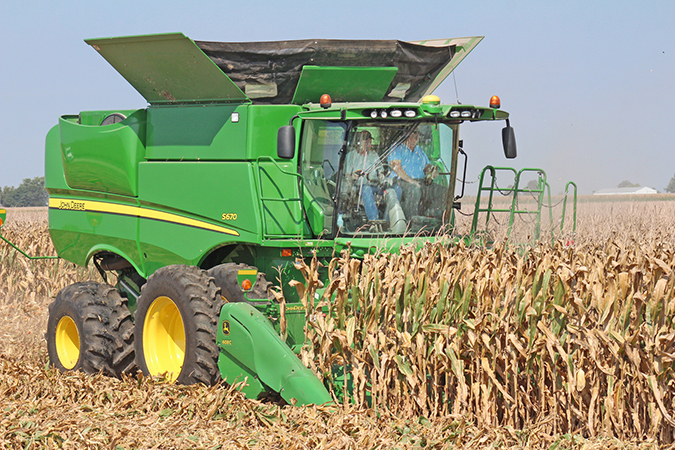 Photo by R.R. Best Harvest Begins John and Mike Durbin started harvesting corn for Carroll Weaver north of Sullivan last week and discovered weather conditions had created a blight on the crop damaging the corn harvest yield.