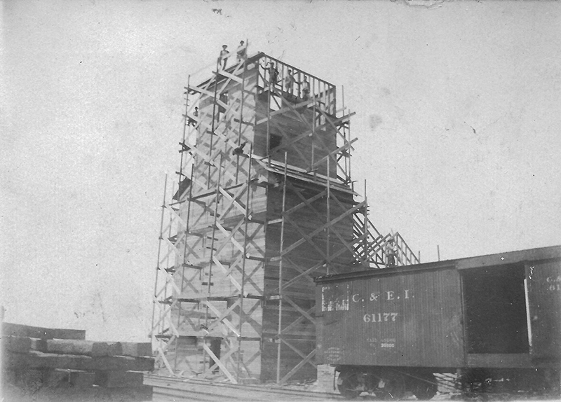 Pictured above is the construction of the Kirksville elevator in 1908. Please submit photos to the News Progress for future consideration. Originals will be saved for return or forwarded to Moultrie County Historical Society. If you have any other information, please contact the Moultrie County Historical Society at 217-728- 4085.