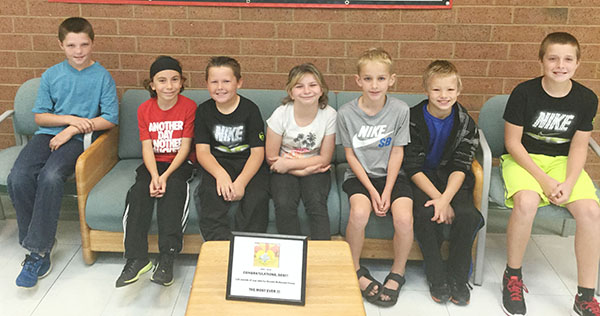 Photo furnished SES Gold Slip Winners Sullivan Elementary School Gold Slip winners for the month of October are pictured. Keegan Adams and Marissa Fleshner volunteered their time helping out in the music room by cleaning instruments. Johnathan Iacobazzi and Zaden Husson helped two students who were having difficulty with math.They were very patient and asked the students questions in order for them to get the correct answers. Kaden DalPonte picks up trash in the cafeteria line everyday on his way out.After he throws away the food on his tray, he goes back into the kitchen to make sure it's picked up. Johnathan Davis saw a student working in the hallway on his way back to the classroom and kindly asked if he could help that student with his work.  Kyle Corkill has been an amazing leader for his classmates.He sets a good example by doing the right thing and is responsible, respectful, and helpful.