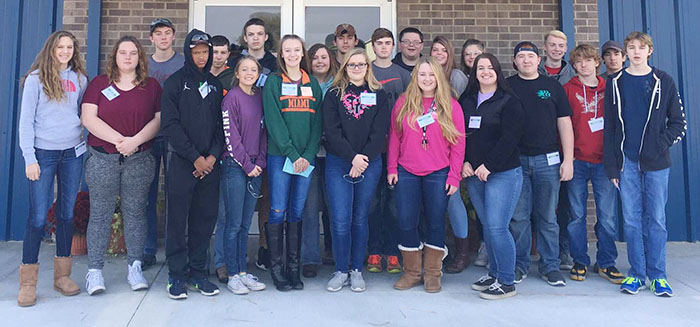 """Photo furnished OVHS Manufacturing Day Tour Okaw Valley freshmen, sophomores, and juniors took part in the annual Okaw Valley Manufacturing Day Oct. 28.Students had the opportunity to visit some of the local manufacturing facilities including Agri-Fab, Hydro-Gear, Mid-State Tank, Marvin Keller Trucking, IHI Turbo, GSI, and MasterBrand. Students listened to employees talk about their experiences at the companies and also went on plant tours.Through the job learner program, students have the opportunity to work at some of these facilities and gain """"real world"""" experiences.This also helps the companies attract potential future employees."""