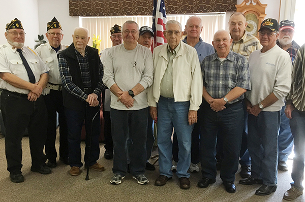 Photo furnished veterans were honored at the senior citizen luncheon in Sullivan, Nov. 1