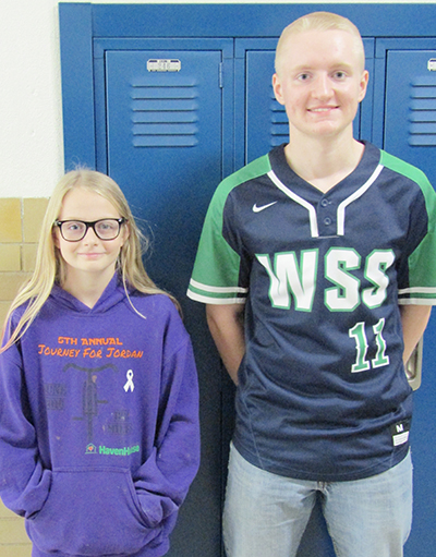 Photo furnished Windsor Students of October Windsor High School October student of the month is Logan Greuel, son of Matt and Jennifer Greuel, and the junior high student of the month is Larissa Carr, daughter of Walter and Jennifer Carr.   Greuel is a sophomore and involved in baseball, basketball, FFA, scholastic bowl, student council, pep club, and physics club.  Carr, a 7th grader, is a member of the track team.